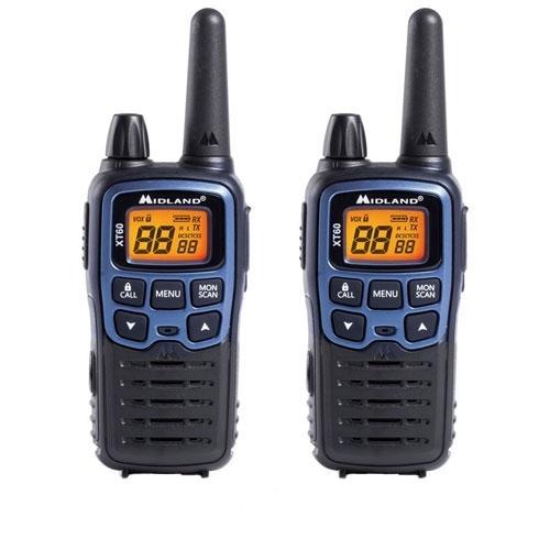 Statie radio PMR/LPD portabila Midland XT60 C1179, 44 MHz, 69 canale LPD + 24 canale PMR, autonomie 12 ore imagine spy-shop.ro 2021