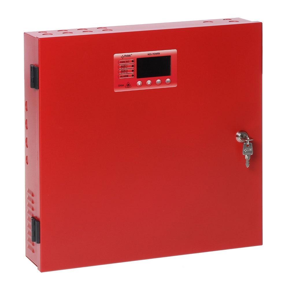 Sursa de alimentare 27.6 V/2 A Pulsar EN54-2A17LCD, 230 VAC/50 Hz, montaj aparent, LCD imagine spy-shop.ro 2021