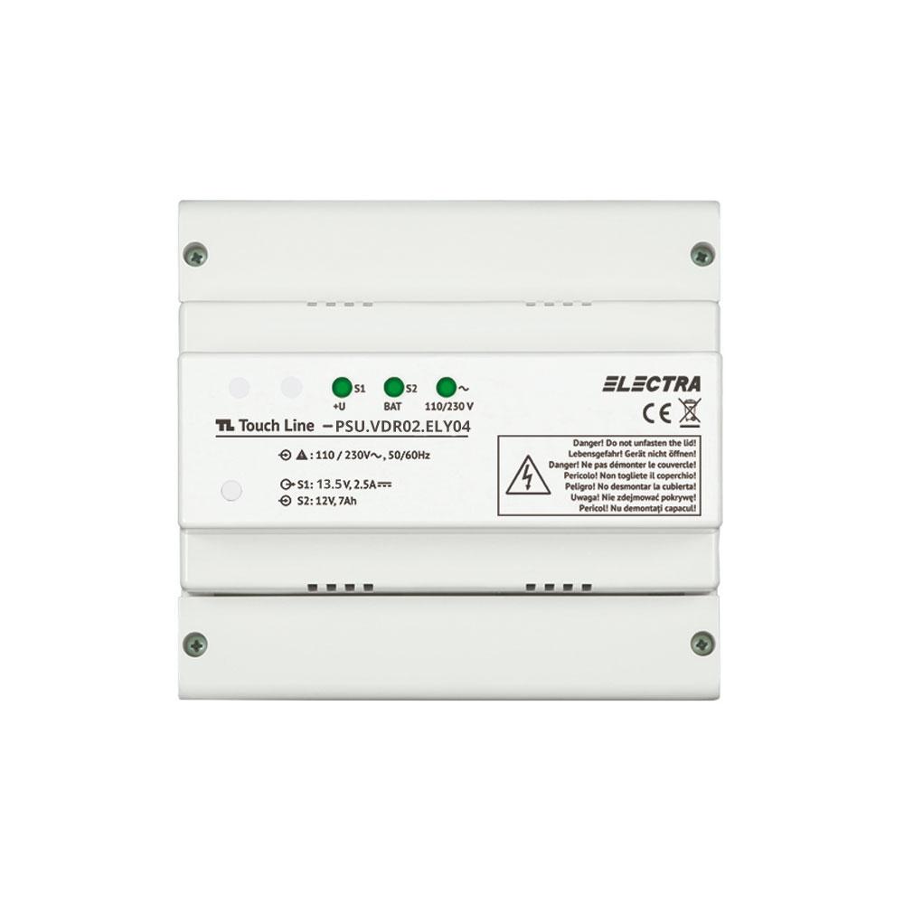 Sursa de alimentare pentru videointerfon Electra PSU.VDR02.ELY04, 4 fire, 110-230 Vca, 13.5 Vcc