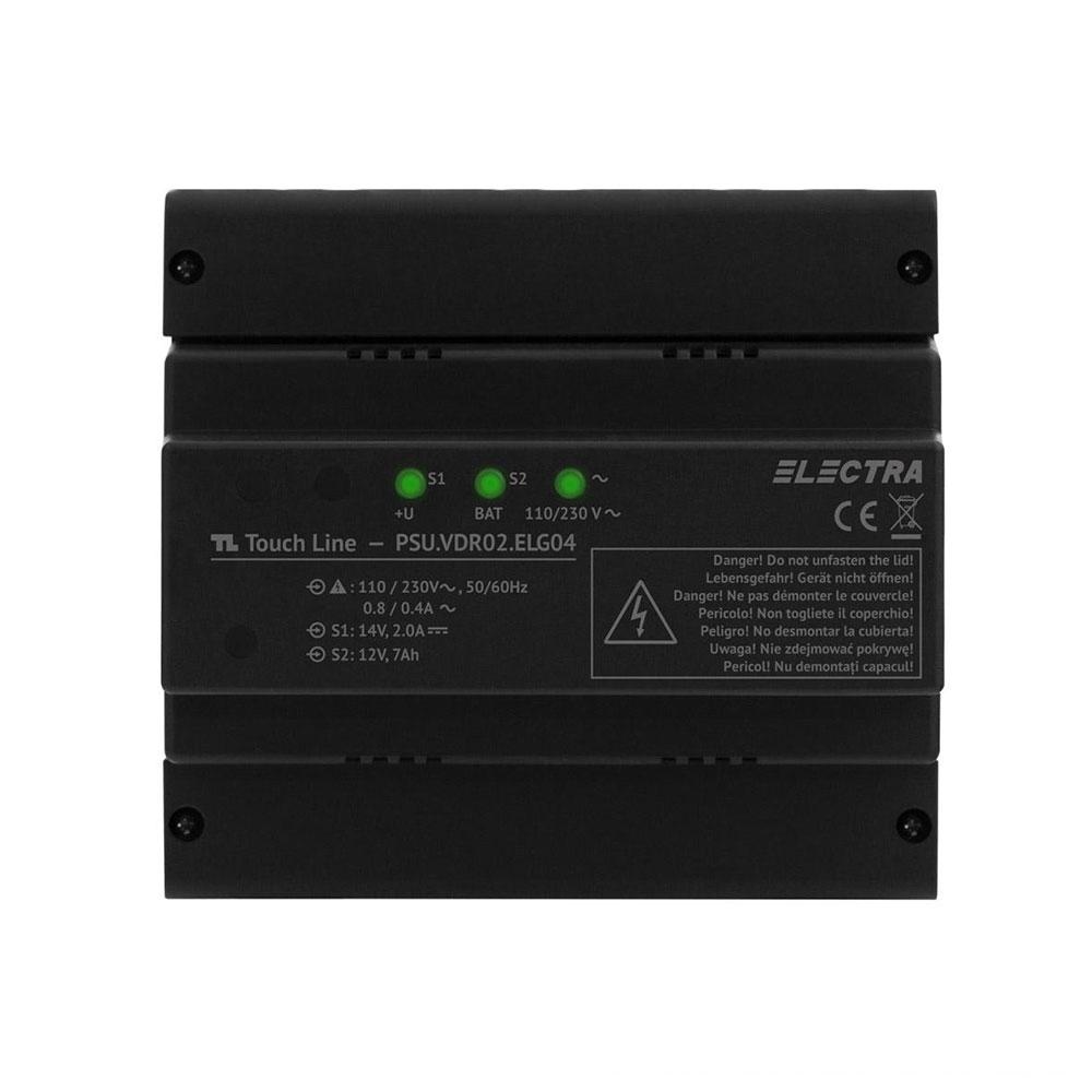 Sursa de alimentare pentru videointerfon Electra PSU.VDR02.ELG04, 4 fire, 110-230 Vca, 13.5 Vcc