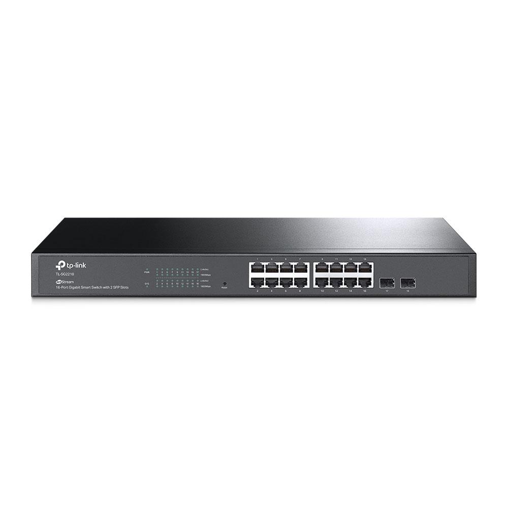 Switch cu 16 porturi TP-Link TL-SG2218, 2 porturi SFP, 36 Gbps, 26.78 Mpps, 8.000 MAC, cu management