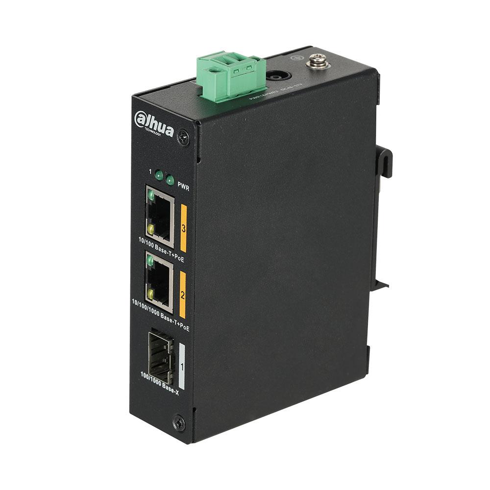 Switch cu 2 porturi PoE Dahua PFS3103-1GT1ET-60 imagine spy-shop.ro 2021