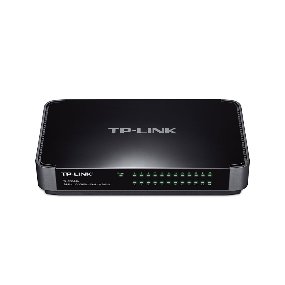 Switch cu 24 de porturi TP-Link TL-SF1024M, 8000 MAC, 4.8 Gbps imagine