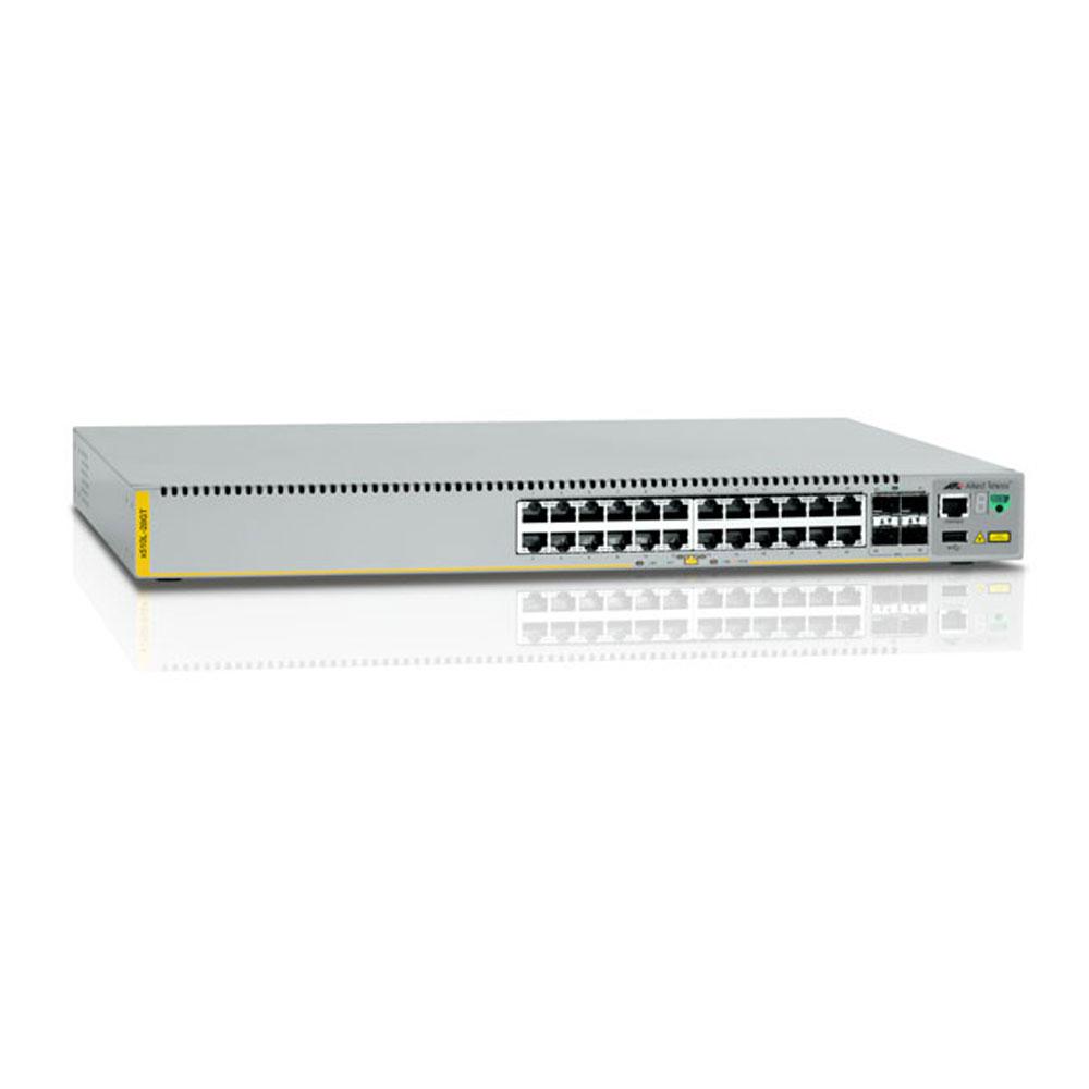 Switch cu 24 porturi Allied Telesis AT-X510L-28GT-50, 128 Gbps, 95.2 Mpps, 16.000 MAC, 4 porturi SFP, 1U, cu management