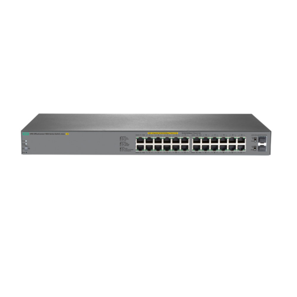 Switch cu 24 porturi Aruba J9983A, 52 Gbps, 38.6 Mpps, 2 porturi SFP, 1U, PoE, cu management