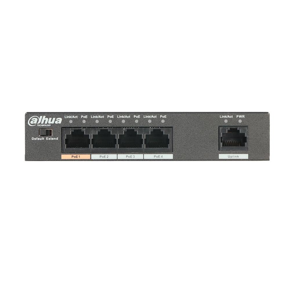 Switch cu 4 porturi PoE Dahua PFS3005-4ET-60 imagine spy-shop.ro 2021