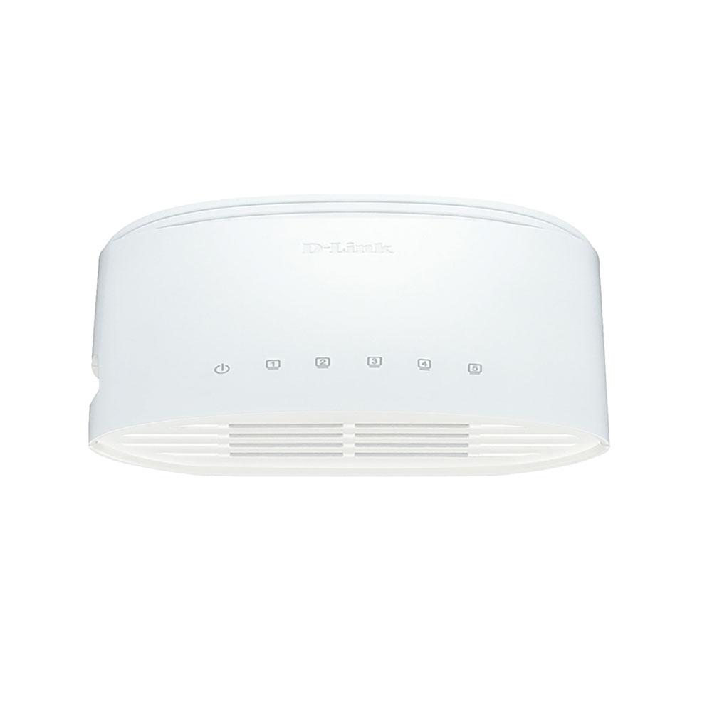 Switch cu 5 porturi D-Link DGS-1005D, 10 Gbps, 8.000 MAC, fara management
