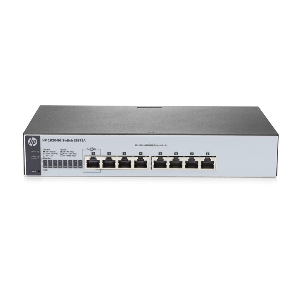 Switch cu 8 porturi Aruba J9979A, 16 Gbps, 11.9 Mpps, 8000 MAC, 1U, cu management
