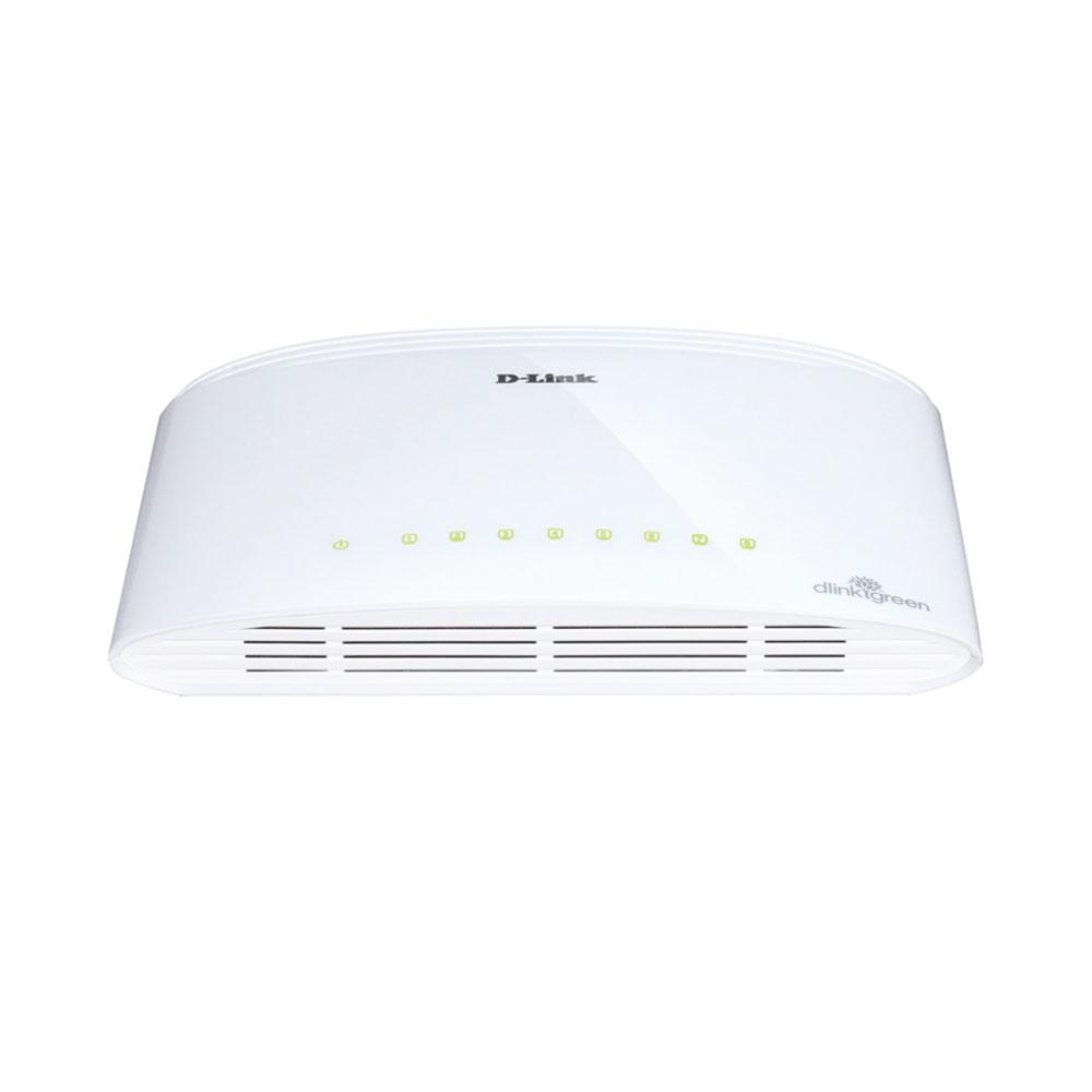 Switch cu 8 porturi D-Link DGS-1008D, 16 Gbps, 4.000 MAC, fara management