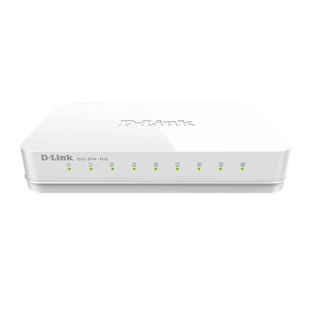 Switch cu 8 porturi GO-SW-8G, 16 Gbps, 8.000 MAC, fara management