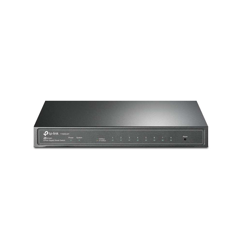 Switch cu 8 porturi TP-Link T1500G-8T(TL-SG2008), 8000 MAC, 16 Gbps imagine spy-shop.ro 2021