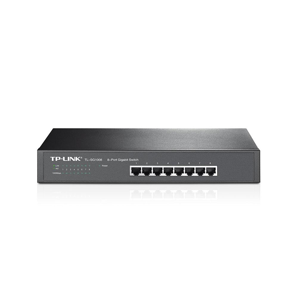 Switch cu 8 porturi TP-Link TL-SG1008, 4000 MAC, 16 Gbps
