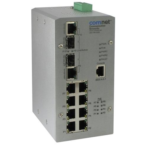 Switch industrial cu management Comnet CNGE2FE8MSPOE+ imagine spy-shop.ro 2021