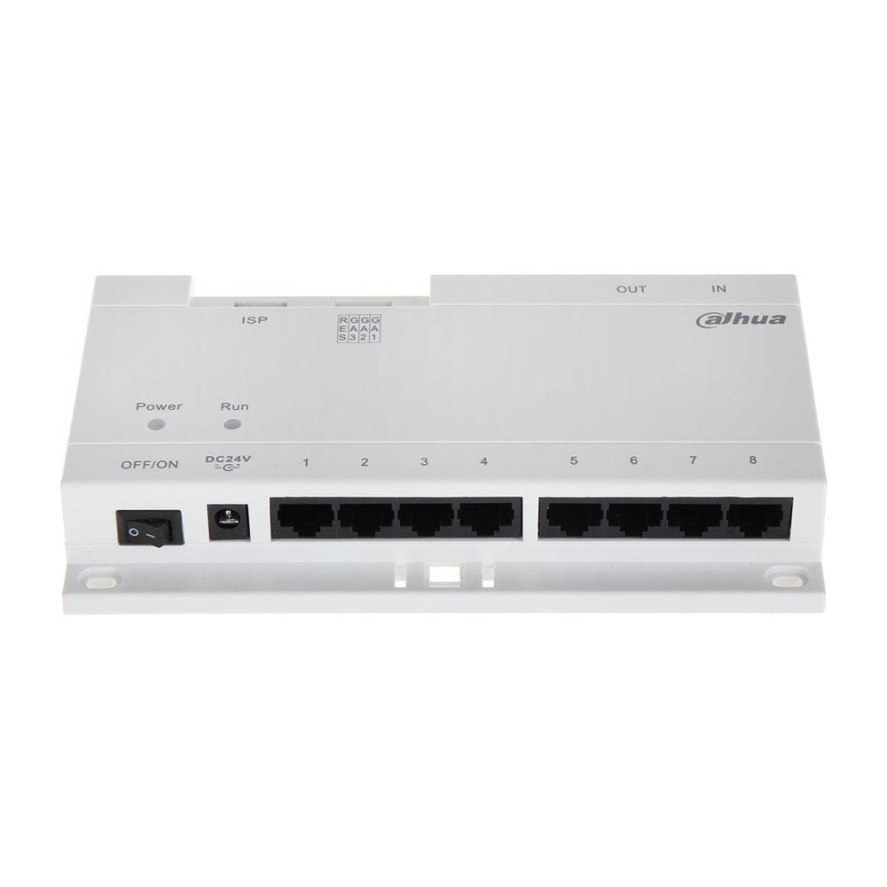 Switch PoE cu 8 porturi Dahua VTNA1080B, 24 V imagine spy-shop.ro 2021