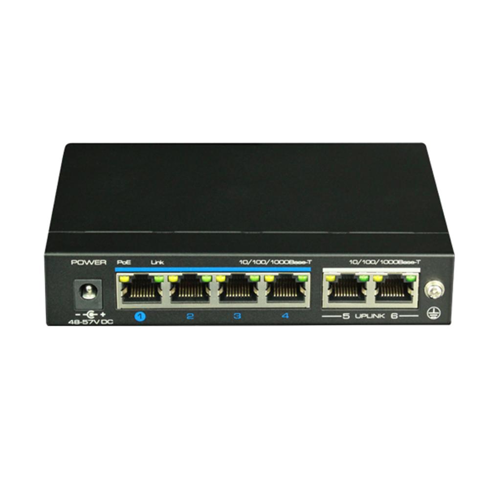 Switch ethernet gigabit POE+ UTP3-GSW04-TP60, 4+2 porturi, 12Gbps, 60W