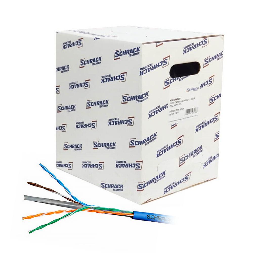Cablu UTP CAT6 Schrack HSKU423H13, 4x2xAWG23/1, LS0H, Eca, 305 m