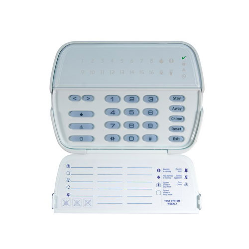 Tastatura LED DSC PK5516, 16 zone, 5 taste programabile, 12 Vdc imagine spy-shop.ro 2021