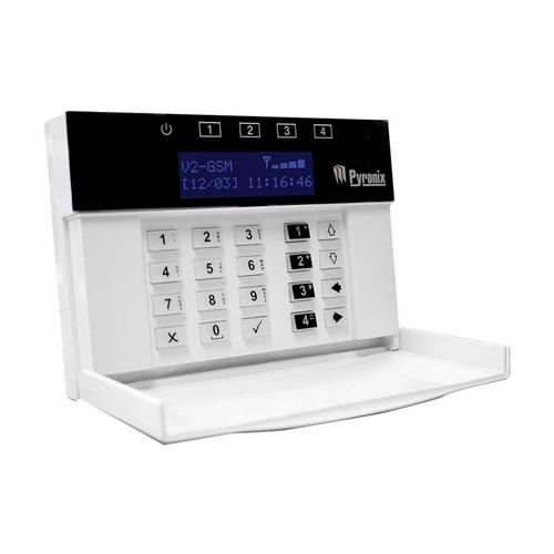 Tastatura Pyronix FPV2GSMGB, LCD, microfon/difuzor, 256 evenimente imagine spy-shop.ro 2021