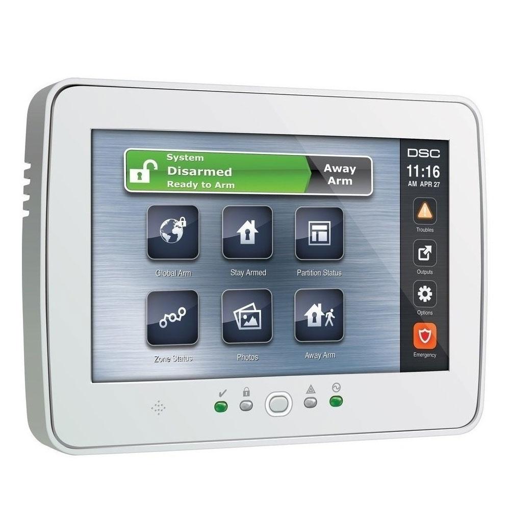 Tastatura touch screen cu cititor de proximitate DSC PowerSeries PRO-HS2TCH, 248 zone, 800x480p, 4 taste programabile imagine