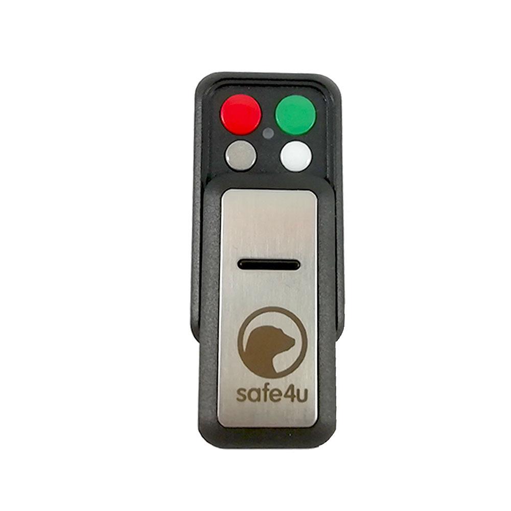 Telecomanda wireless cu 4 butoane Safe4u RO911103FB, cod saritor, 868 MHz, 250 m imagine spy-shop.ro 2021