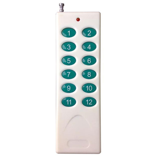Telecomanda radio cu 12 butoane RCF512, 12 canale, 433 MHz, 300 m imagine spy-shop.ro 2021