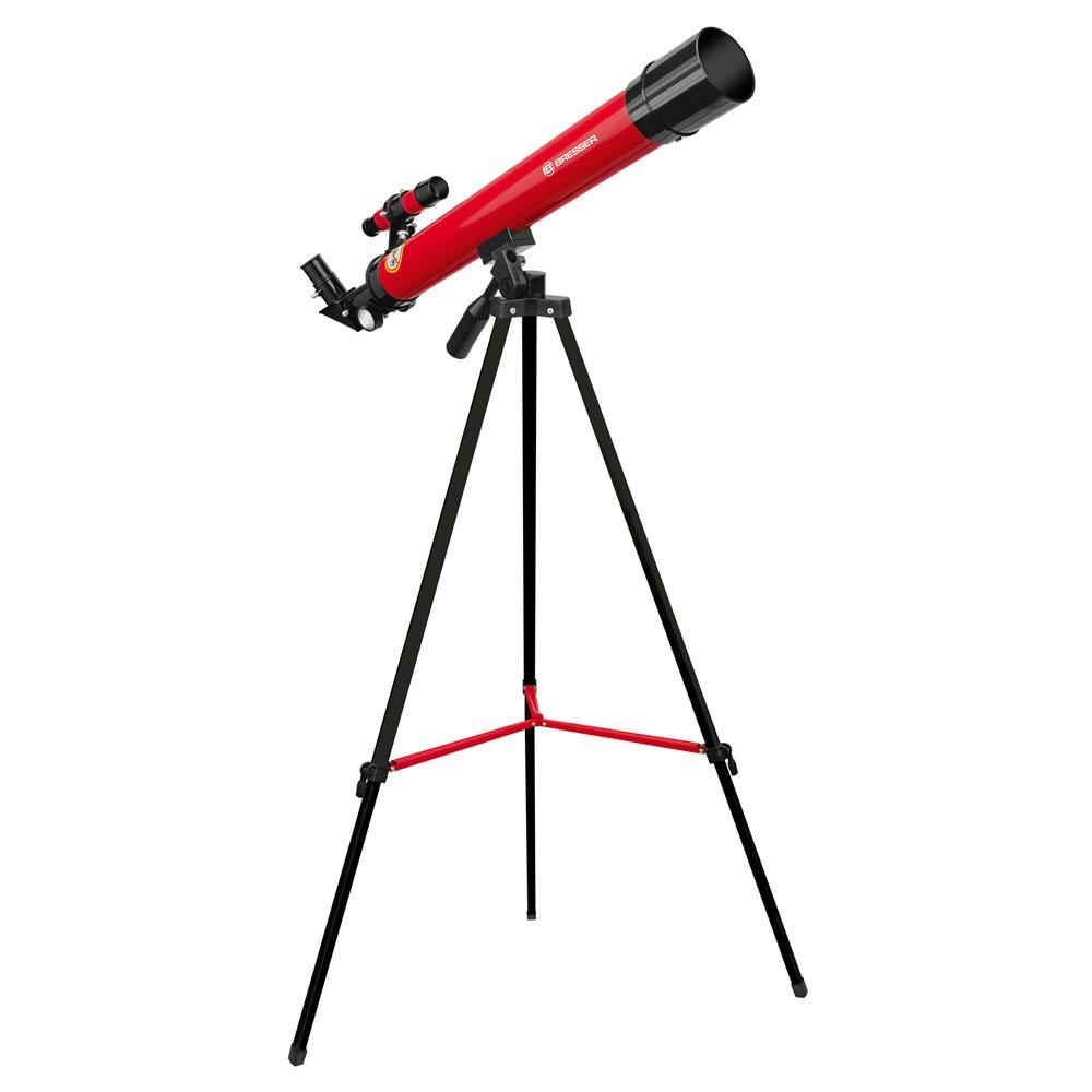 Telescop refractor Bresser Junior 45/600 AZ rosu imagine spy-shop.ro 2021