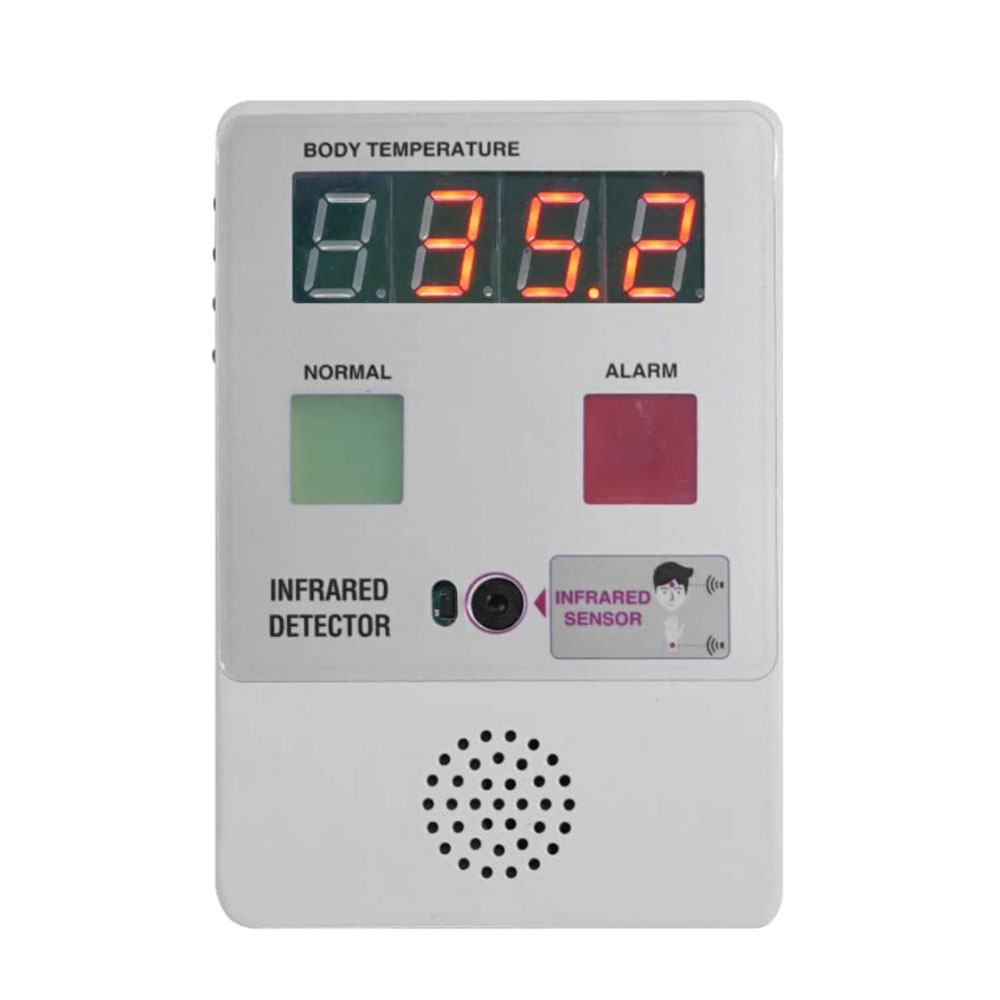 Termometru IR digital fara contact GS1606, detectare febra, alarma vocala, montare fixa imagine spy-shop.ro 2021