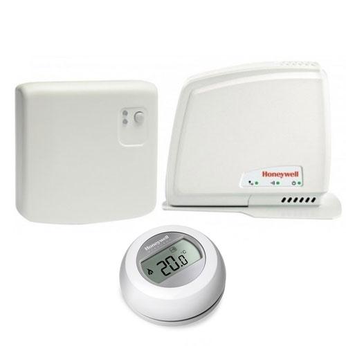 Termostat wireless cu modul de internet Honeywell Y87RFC2074, 30 m, 868 MHz, TPI
