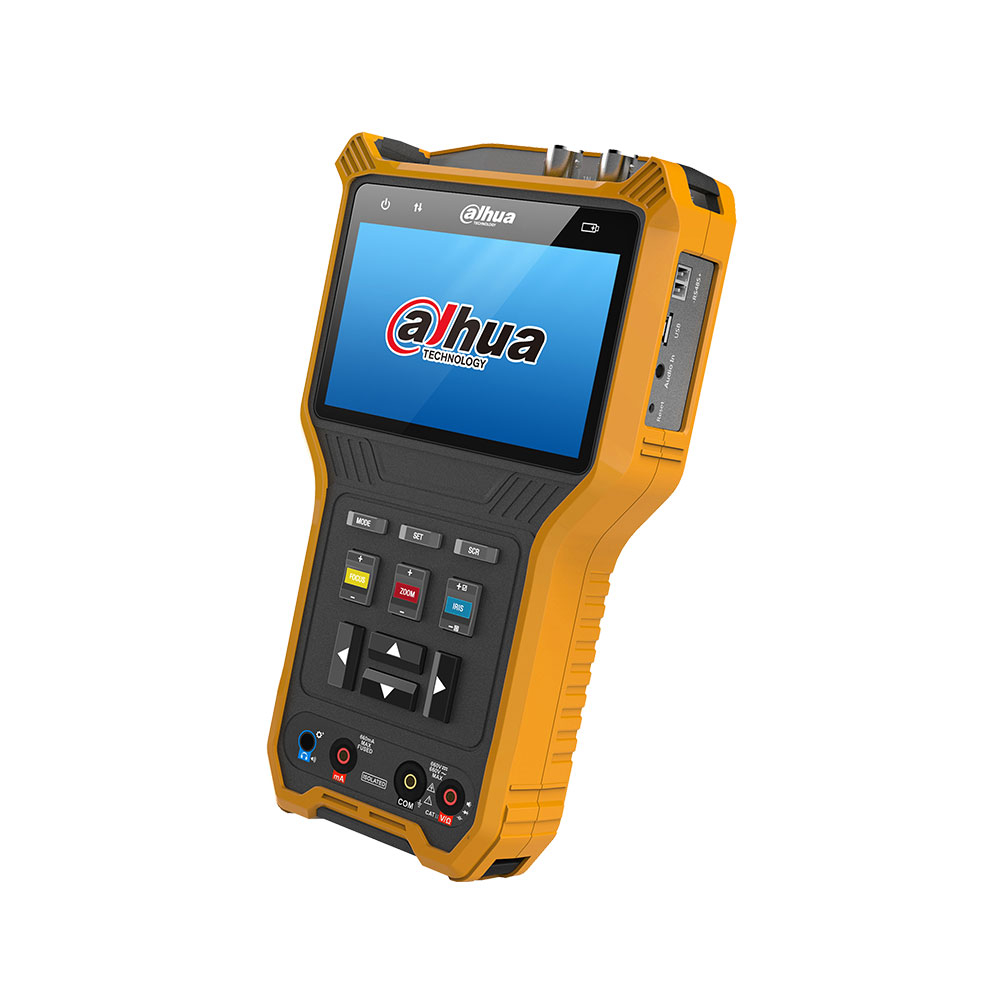 Tester CCTV profesional DH-PFM905-E, HDCVI/TVI/AHD/CVBS, testare audio, 8 GB