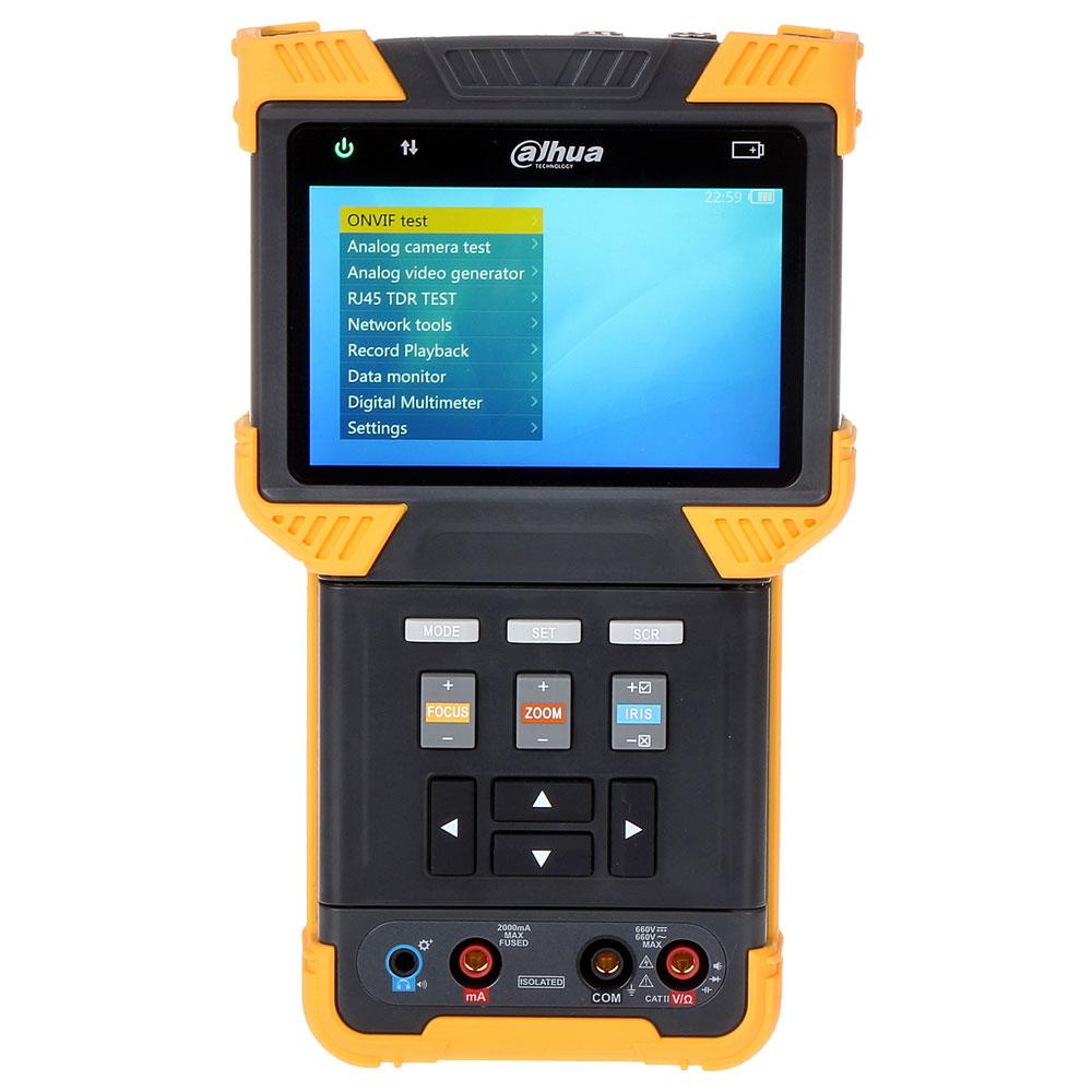 Tester CCTV profesional PFM900-E, IP/HDCVI/TVI/AHD/CVBS, testare audio, 8 GB