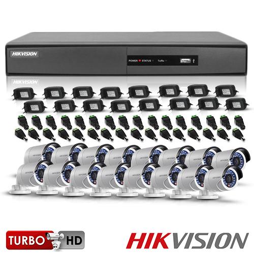 SISTEM SUPRAVEGHERE EXTERIOR TURBOHD CU 16 CAMERE VIDEO HIKVISION TVI-16EXT20-1080P