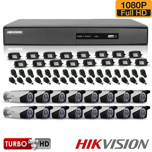SISTEM SUPRAVEGHERE EXTERIOR TURBOHD CU 16 CAMERE VIDEO HIKVISION TVI-16EXT40-1080P