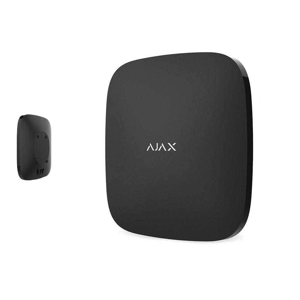 Unitate centrala AJAX Hub Plus WH/BL, 25 partitii, 150 dispozitive, 2000 m