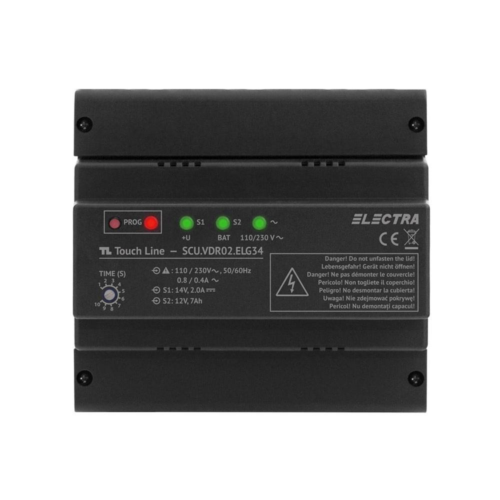 Unitate centrala de alimentare video Electra SCU.VDR02.ELG34, 3 iesiri, 110-230 Vca, 13.5 Vcc imagine spy-shop.ro 2021