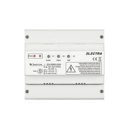 Unitate centrala de alimentare video Electra SCU.VDR02.ELW1R , 110-230 Vca, 13.5 Vcc, 1 iesire