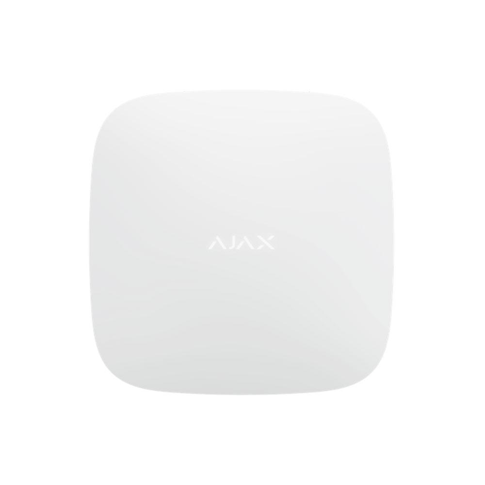 Unitate centrala wireless AJAX Hub 2 WH, 100 dispozitive, 2000 m, verificare vizuala alarma imagine