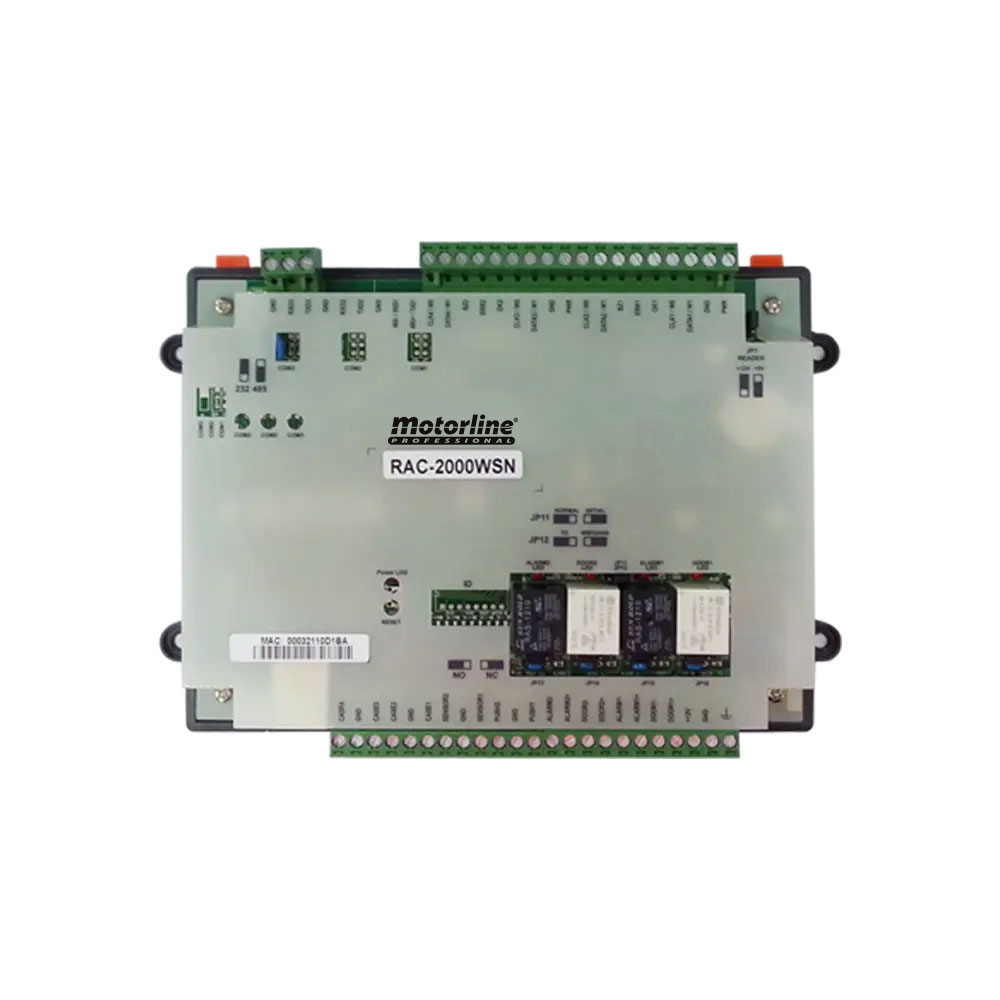 Unitate de control acces IP pentru 2 usi si 4 cititoare de card Motorline MRAC2000WSN, Wiegand, RS-485, 15.000 utilizatori, 40.000 evenimente, anti passback
