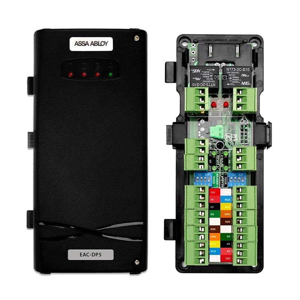 Modul control acces Incedo Assa Abloy EAC-DP5, Wiegand, 2 usiunidirectionale/1 usa bidirectionala, 2 intrari/iesiri