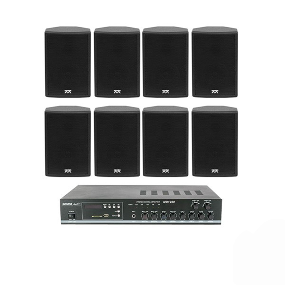 Sistem de sonorizare NOIZ JAZZ LINE 1, 8 boxe, 2 zone, negru