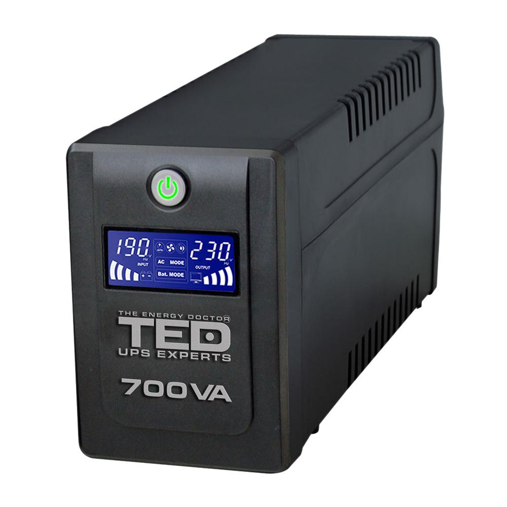 UPS cu 2 prize TED DZ088389, 700VA, 400 W, LCD