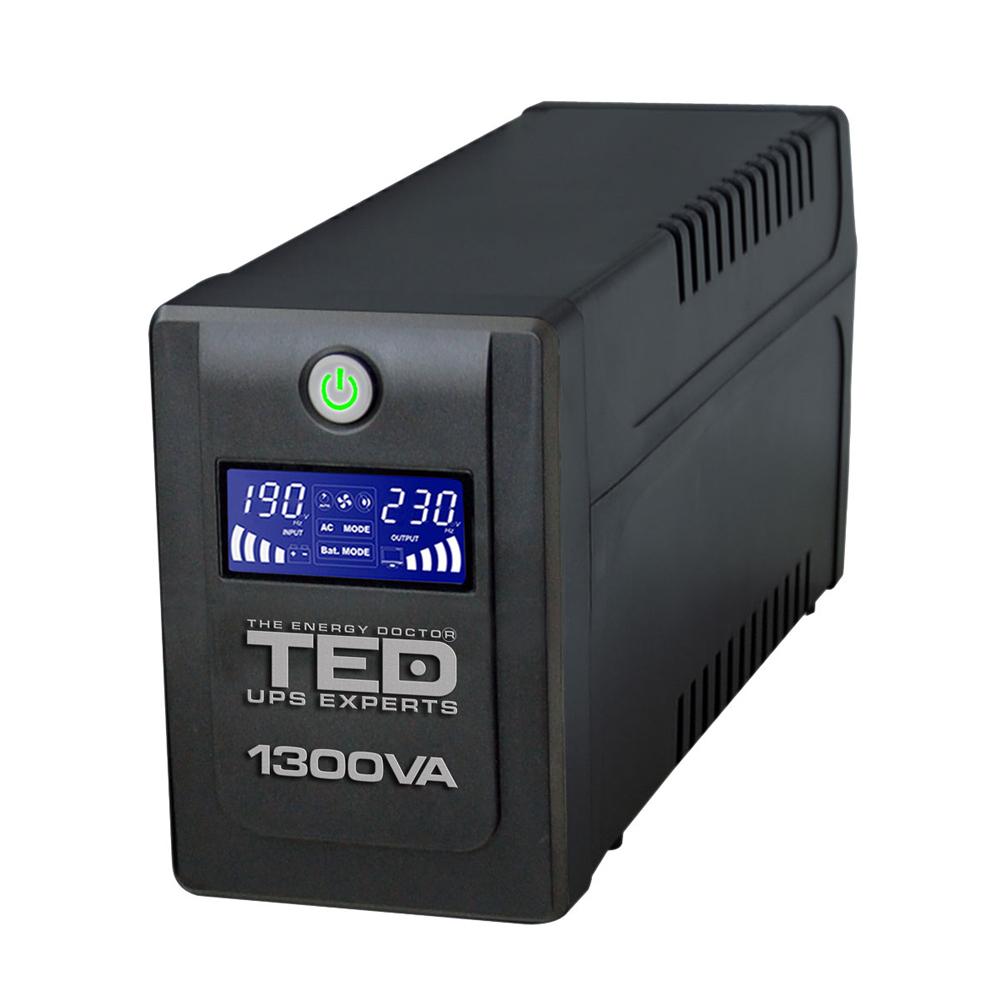 UPS cu 4 prize TED DZ088392, 1300 VA, 750 W, LCD
