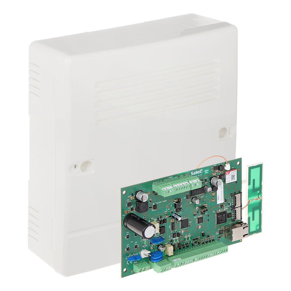 Centrala alarma antiefractie Satel VERSA Plus, 2 partitii, 4-30 zone, 5-12 iesiri PGM, 30 utilizatori