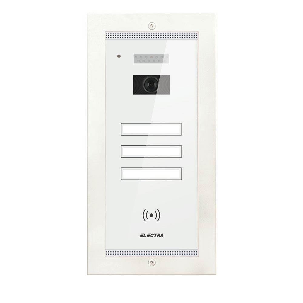 Videointerfon de exterior Electra Smart VPM.3FR02.ELW04, 3 familii, ingropat, 4 fire