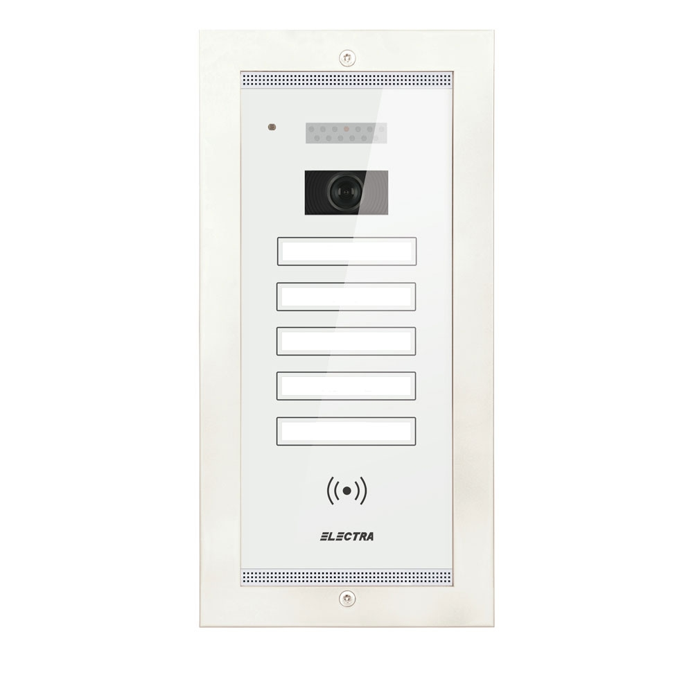 Videointerfon de exterior Electra Smart VPM.5FR02.ELW04, 5 familii, ingropat, 4 fire imagine spy-shop.ro 2021