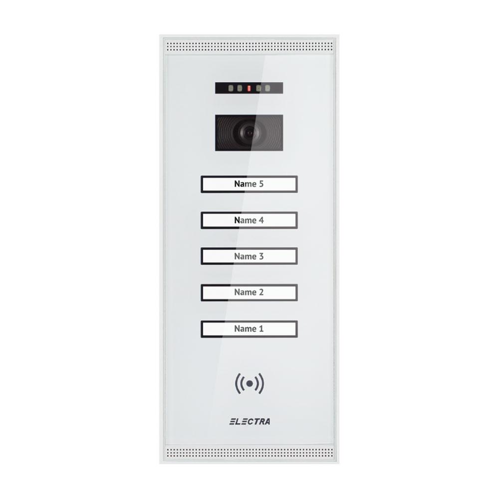 Videointerfon de exterior Electra Smart VPM.5SR02.ELW04, 5 familii, aparent, 4 fire