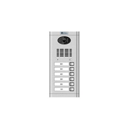Videointerfon de exterior Genway CM-02NE-C 1*6, 6 familii, ingropat, vila