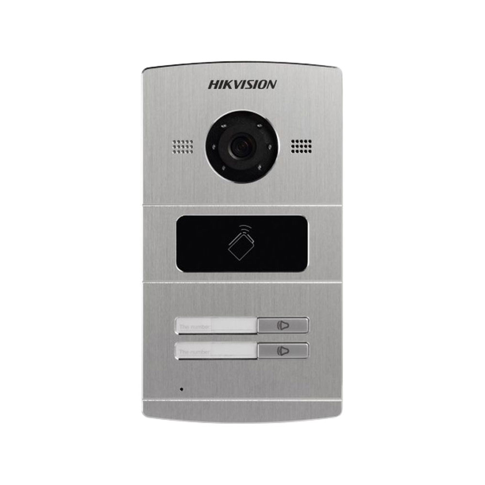 Videointerfon de exterior Hikvision DS-KV8202-IM, 1.3 MP, card reader, ingropat, 2 familii imagine spy-shop.ro 2021