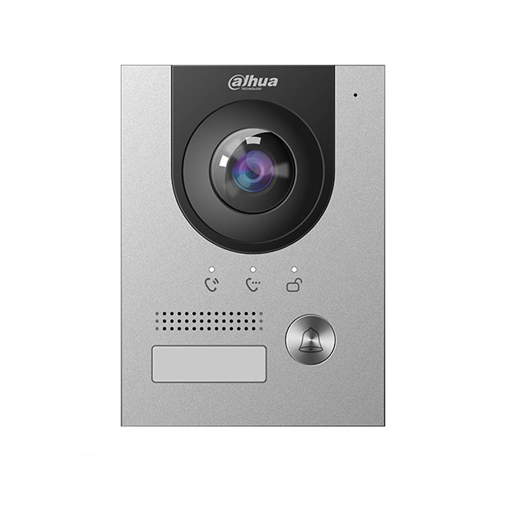 Videointerfon de exterior IP Dahua VTO2202F-P, 2 MP, aprent/ingropat, 1 familie imagine spy-shop.ro 2021