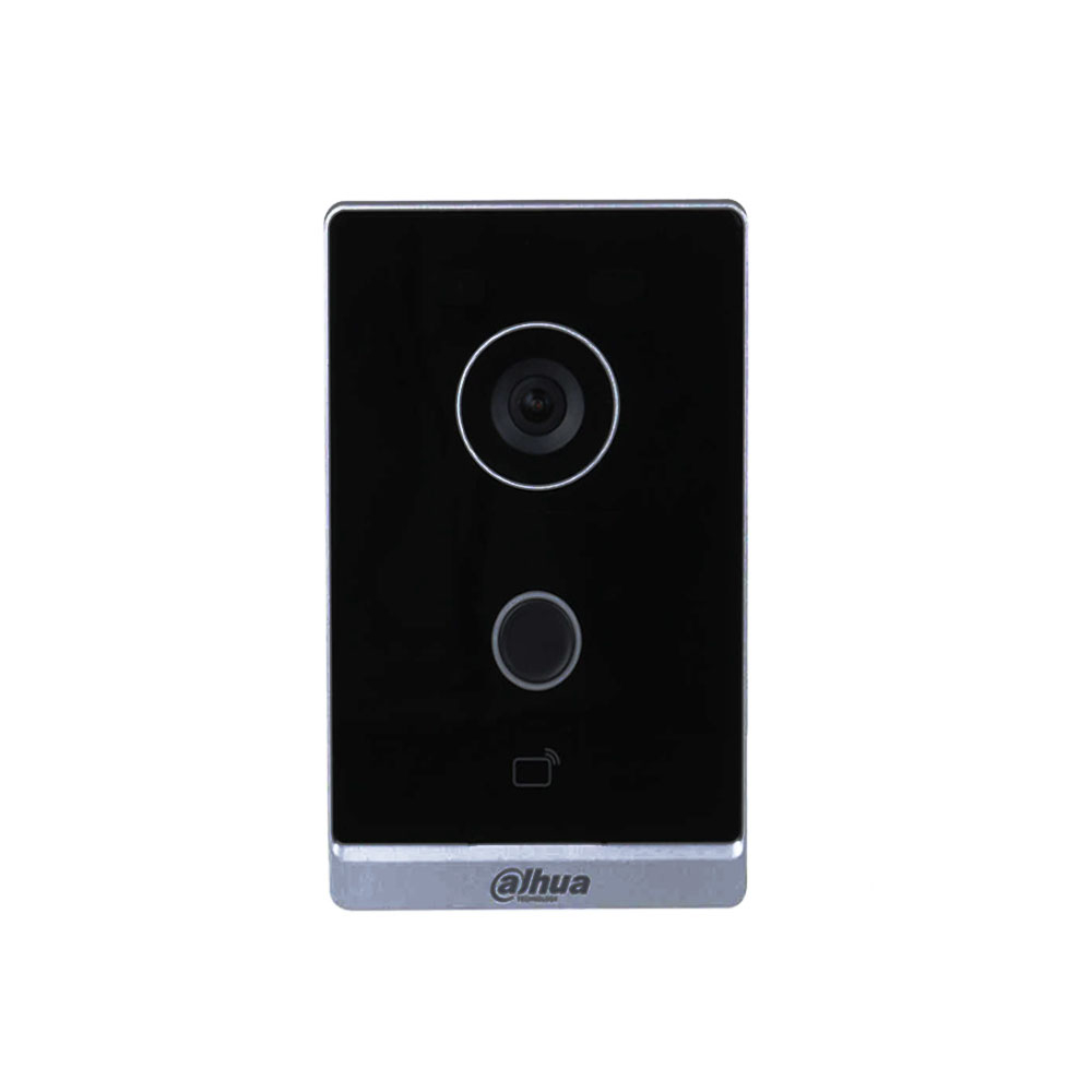 Videointerfon de exterior wireless IP Dahua VTO2211G-WP, 2 MP, 1 familie, 2.4 GHz, aparent, control de la distanta, PoE imagine spy-shop.ro 2021