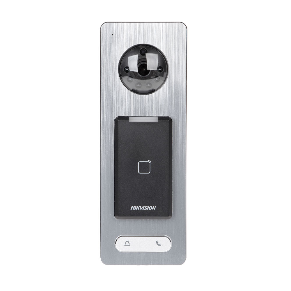 Videointerfon de exterior IP WiFi Hikvision DS-K1T500S, RFID, Mifare, 13.56 MHz, 50.000 carduri, 200.000 evenimente